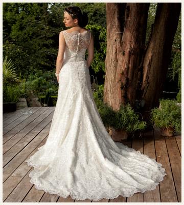 Column lace wedding dress - Baroque Couture, Derbyshire