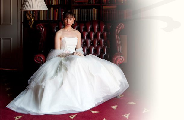 Audrey Hepburn style wedding dress - Baroque Couture, Derbyshire